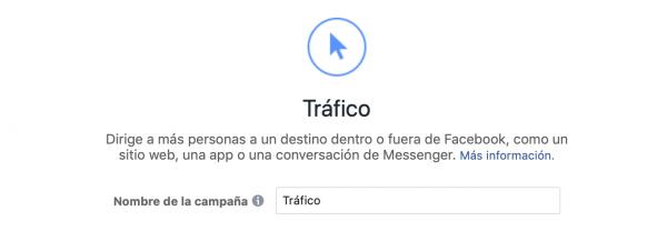 objetivo tráfico al sitio web