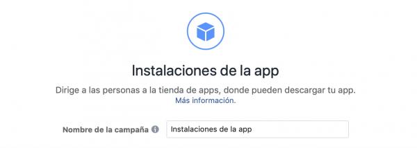 Instalaciones de la app