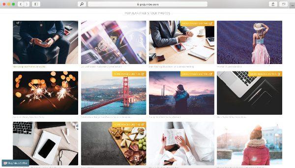 Sitio web de fotos gratuitas