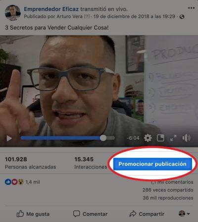 Nunca toques el botón promocionar publicación en Facebook