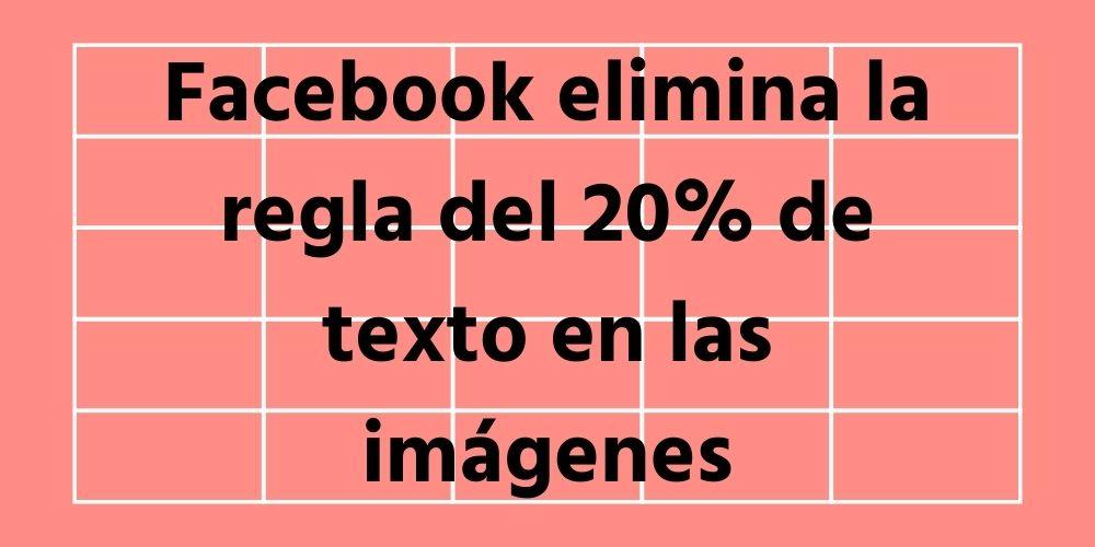 regla de las imagenes en los anuncios de facebook